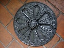 Superb antique Kendrick cast iron circular chain operated hit and miss air vent