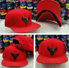 Pro Standard Red Chicago Bulls Team Metal Plate Badge Strapback Hat