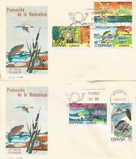 SPD FDC Primer dia España Protección de la Naturaleza Edifil# 2469/2473 1978