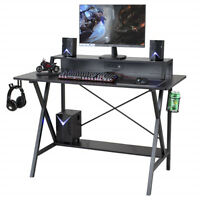 Computer Desk Laptop PC Home Office Study Writing Table W/ 3 Outlet & 2 USB Port