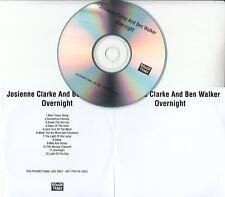 JOSIENNE CLARKE AND BEN WALKER Overnight 2016 UK 12-track promo test CD