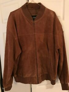 Mens Willsons Tan Suede Leather Jacket Sz XL