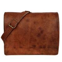 Messenger Bag School Shoulder Bag Men's Vintage Crossbody Satchel Leather