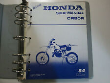 1984 Honda CR80R Service Shop Repair Manual FACTORY DEALERSHIP BOOK BINDER 84