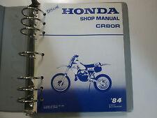 1984 Honda CR80R Service Shop Repair Manual FACTORY DEALERSHIP BOOK BINDER 84