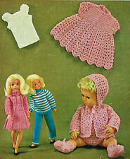 "12"" teenage & 14""Baby Dolls clothes knitting and crochet pattern.(V Doll 81)"
