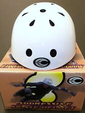 DOUBLE AGGRESSIVE SKATE HELMET WHITE YOUTH SMALL NEW IN BOX