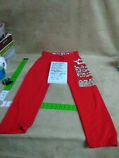 Mint! Justice Gymnast Lt weight joggingpants red/ silver cheetah 16
