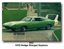 13x19 1969 DODGE CHARGER DAYTONA POSTER PRINT 500 SE 429 HEMI AD MOPAR R/T 440