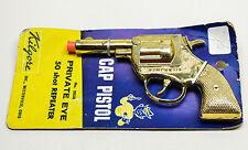 Vintage 1950's Kilgore Private Eye Gold Plated Cap Gun Never Unpacked