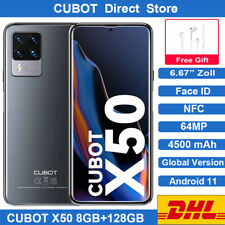CUBOT X50 8GB+128GB Smartphone 4G LTE Handy NFC 4500mAh Face ID Android Global
