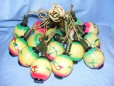 Christmas Figural Chinese Lantern Light Bulb Vintage Glass Old Antique Working