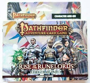 Pathfinder Adventure Card Game Rise Runelords Character Add-On Deck Printed USA