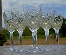 Cristallerie de Lorraine Lemberg - Service de 6 verres à vin cuit cristal taillé