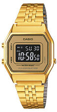 Casio LA-680WGA-9B Ladies Gold Tone Digital Watch Mid-Size Retro Vintage New