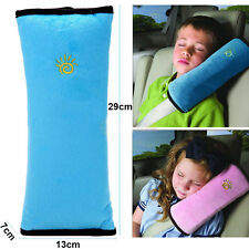 Blue Car Safety Seat Belt Pillow Shoulder Strap Pad Cushions Kids Head Supports