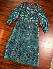 Vintage Custom Made COSTUME Renn Faire Wedding Festival Burnout Dress Size S/M