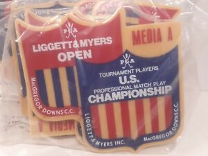 1973 PGA Tournament Players Championship Golf Media Badges New Jack Schroeder 10