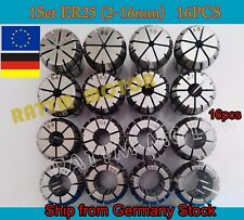 【DE+EU】16pcs Spring Collet CNC Milling Lathe Tool ER25 spindle collet ( 2-16mm )