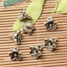 30pcs dark silver color little flower  design charms  EF2814