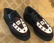 TUK II  Mens Shoes Size 8M  Brown Black White Leather Platform