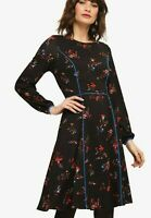 Phase Eight Multi Floral Cocktail Midi Long Sleeve Evening Dress UK 6 to 20
