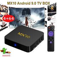 2020 MX10 4+64GB RK3328 Android 9.0 OS TV BOX Quad Core USB 3.0 4K h.265 Media