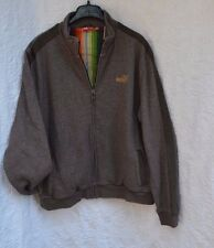 MENS PUMA BROWN KNIT LINED  TRACK JACKET COAT SIZE L LARGE GOLF