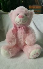 Baby Ty Pink My First Teddy Bear Pluffies Classic Plush Stuffed Toy 2013 13""