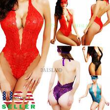 Lace-Sexy-Lingerie-Sleepwear-Women's-Underwear-Panties-Dress-Babydoll-Nightwear