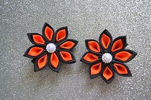 Girls School Colour Hair accessories Kanzashi flower Clips