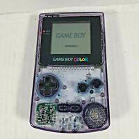 Nintendo Game Boy Color Handheld Console  Atomic Purple + Classic Bubble Bobble