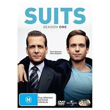 SUITS.-Season 1-Region 4-New AND Sealed-4 DVDs Set