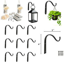 Wrought Iron Hooks Hangers Hanging Wall Bracket For Lantern Planter Home Decor