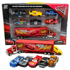 7pc Cars 2 Lightning McQueen Racer Car & Mack Truck Niños Juguete Regalos Collection Set