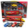 7pc Cars 2 Lightning McQueen Racer Car&Mack Truck Kids Toy Collection Set Gifts