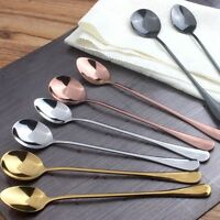 1PC Quality Ice Cream Tea Scoop Coffee Spoon Long Handle Stainless Steel