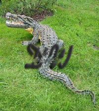 KROKODIL ALLIGATOR lebensgroß 160 cm GARTENTEICH Garten Figur Deko Kroko Tier