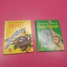 WONDER BOOKS THE WONDER BOOK OF BIRDS #757, WONDER BOOK OF ANIMALS #687 (G126)
