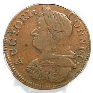 1787 16.2-NN.1 R-5+ PCGS XF 40 Draped Bust Left Connecticut Colonial Copper Coin