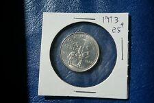 A-209 1973 Canada 25 Cents quarter Queen Elizabeth II RCMP Centennial Mountie