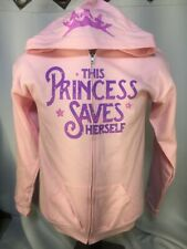 DISNEY CINDERELLA  this princess saves herself hoodie zip RODGERS HAMMERSTEIN