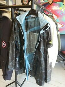 Mens stone island jacket xl paper poly SO Grid cagoule