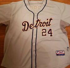 Detroit Tigers Miguel Cabrera SEWN Majestic Baseball Jersey Men Size 56 Gray