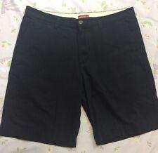 Men's Merona Black Flat Front Shorts Size 38 100% Cotton