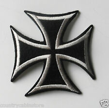 Iron Cross design Biker Embroidered Patch 3 inches