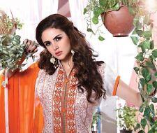 Designer Chanderi Cotton Salwar Kameez White Color Unstiched Casual Wear