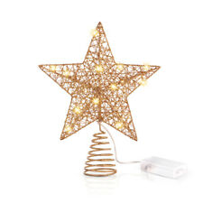 Unomor Lampe en Forme d'étoile avec Guirlandes Lumineuses Décor de Sapin de Noël