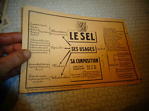 Ancien Buvard LE SEL : Salines de Franche Comté ( Salins les Bains ? )