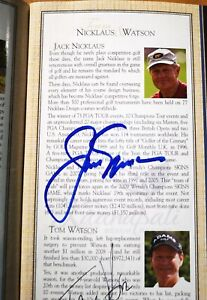 Jack Nicklaus Tom Watson Fuzzy autographed program 2009 Skins Tourny